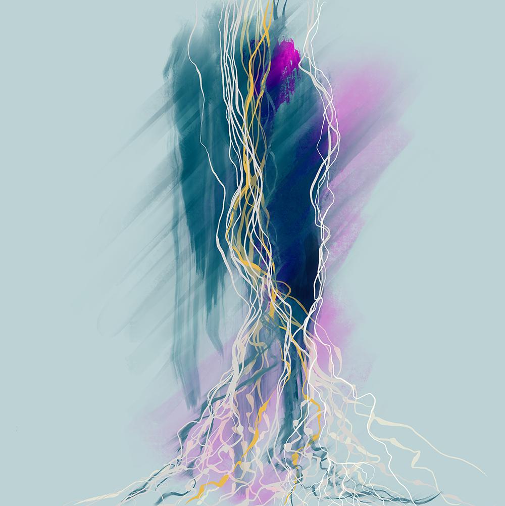 Digital Painting, Micorhizzae_5.1 Karen Hunter McLaughlin